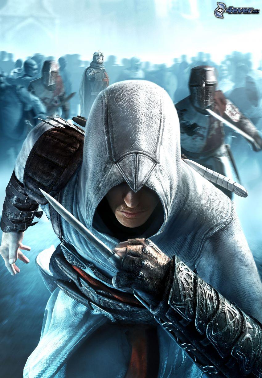 Assassin's Creed, mężczyzna, wojownik, gra, nóż