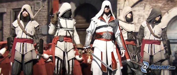 Assassin's creed Brotherhood, Ezio Auditore da Firenze, żołnierz, rycerz, średniowiecze, miecz