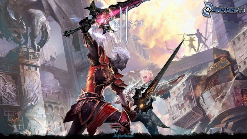 Lineage 2, fantazyjni wojownicy