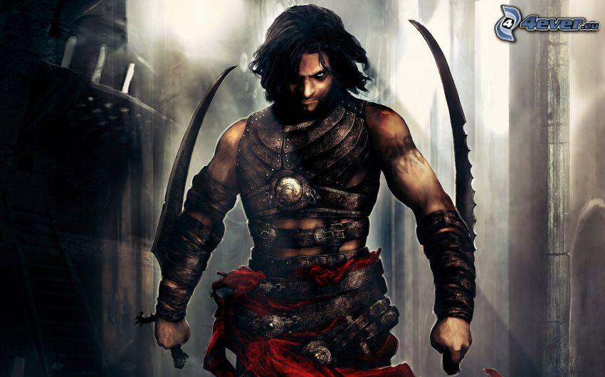 Prince of Persia: Warrior Within, wojownik, miecze