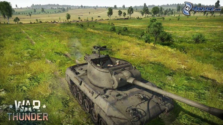 War Thunder, M18 Hellcat, łąka