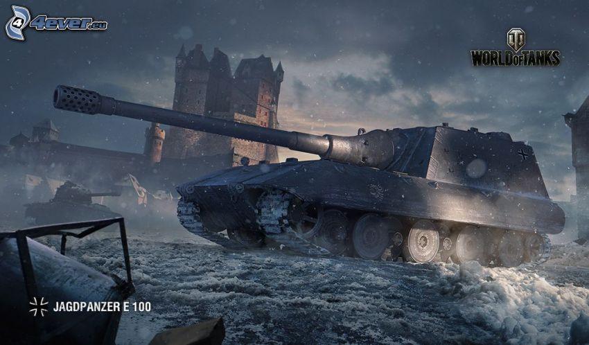 World of Tanks, czołg, zamek