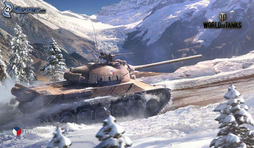 World of Tanks, śnieżny krajobraz