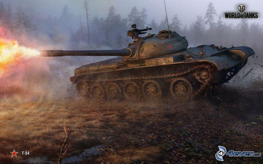 World of Tanks, strzał