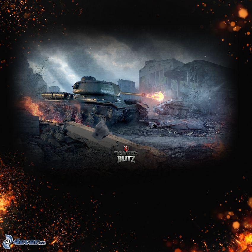 World of Tanks, T-34, czołg, strzelanie