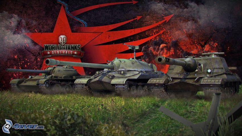 World of Tanks Generals, czołgi