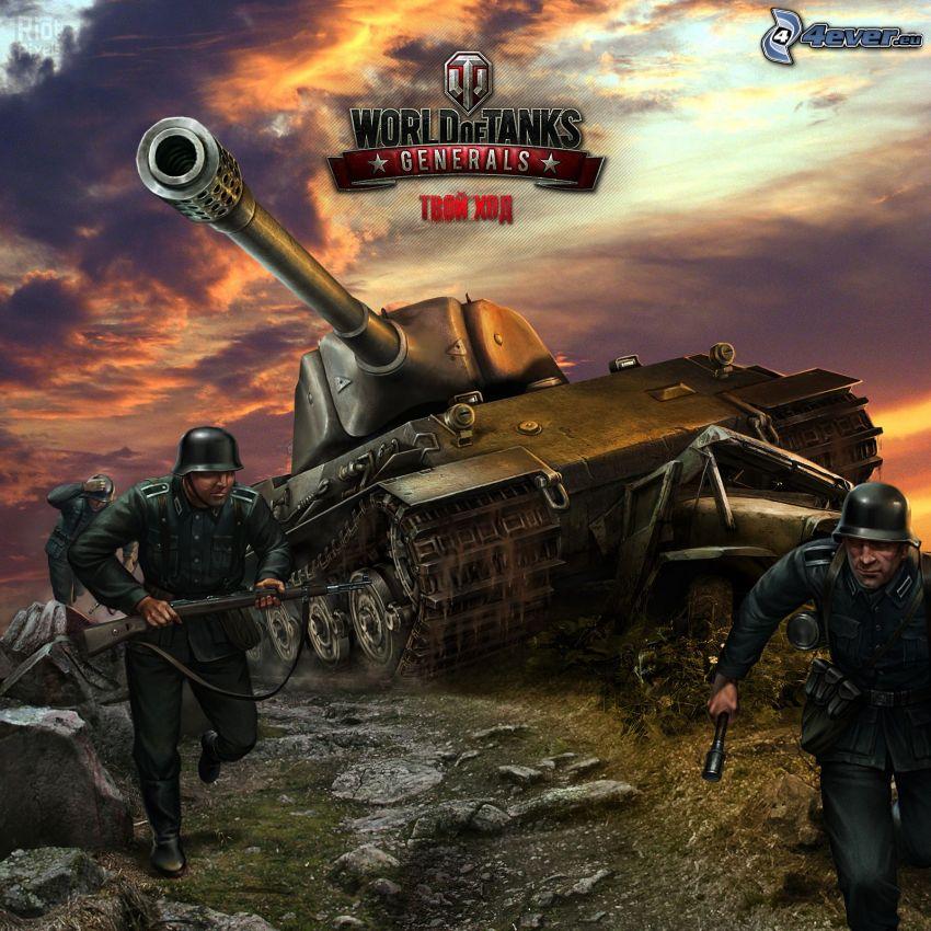 World of Tanks Generals, żołnierze, czołg
