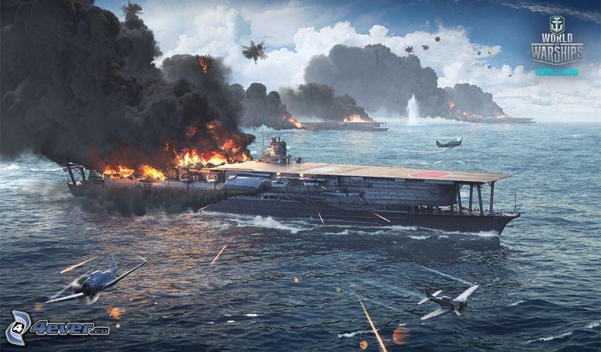 World of Warships, bójka, morze