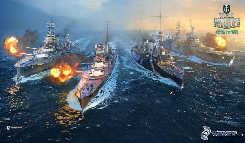 World of Warships, statki, strzelanie