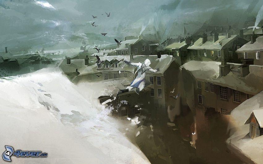 Assassin's Creed - Revelations, zaśnieżona wieś