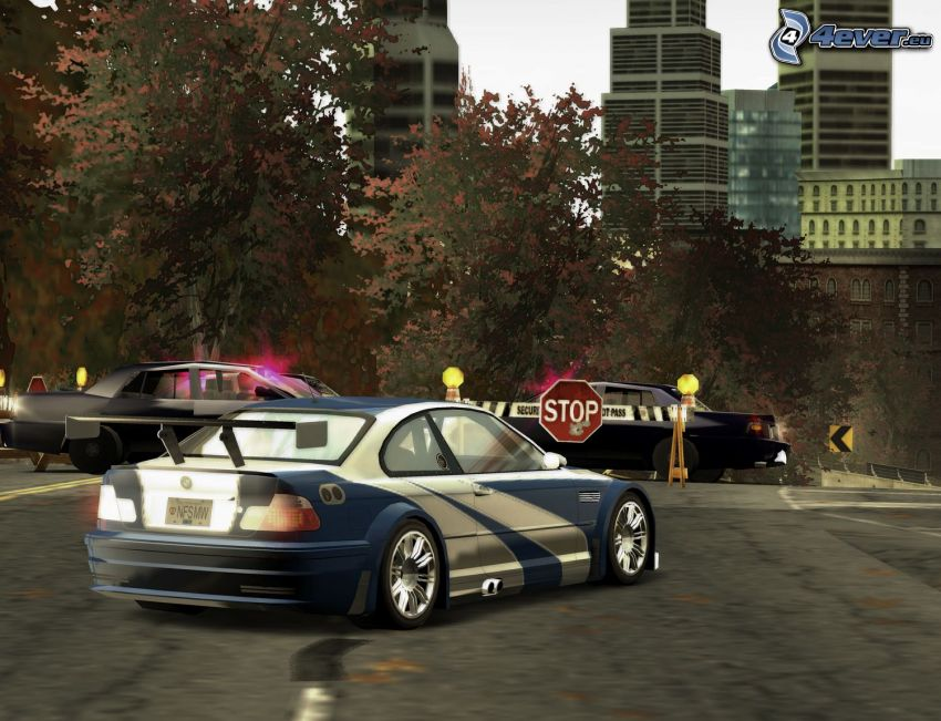 BMW M3 GTR, Need For Speed - Most Wanted
