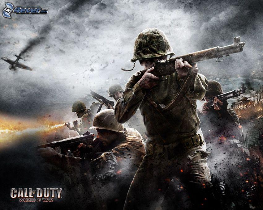 Call of Duty: World at War, żołnierze