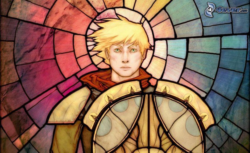 chłopiec animowany, mozaika