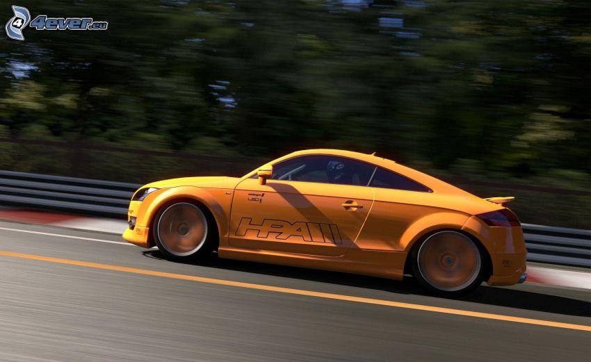 Gran Turismo 5, Audi TT, prędkość