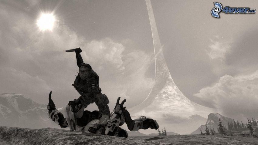 Halo: Reach, sci-fi żołnierz, morderstwo