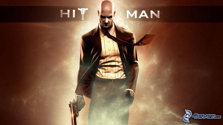 Hitman, mężczyzna z pistoletem