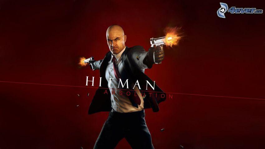 Hitman: Absolution, mężczyzna z pistoletem