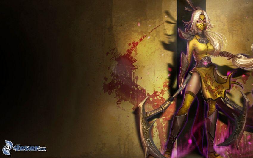 League of Legends, wojowniczka z fantazji