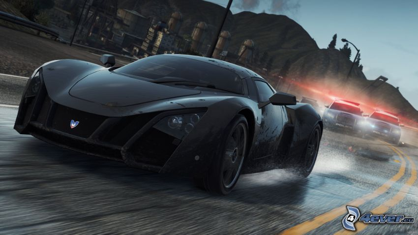 Need For Speed - Most Wanted, Marussia B2, auto policyjne
