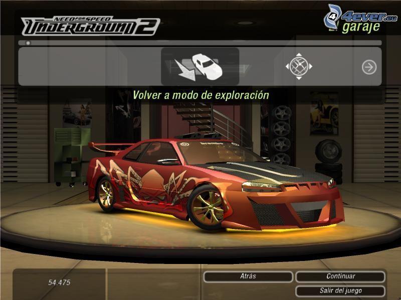 Need For Speed - Underground 2, Nissan, gra komputerowa