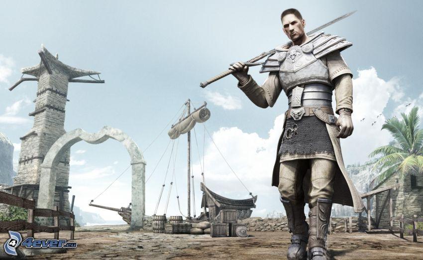 Risen, wojownik, średniowiecze