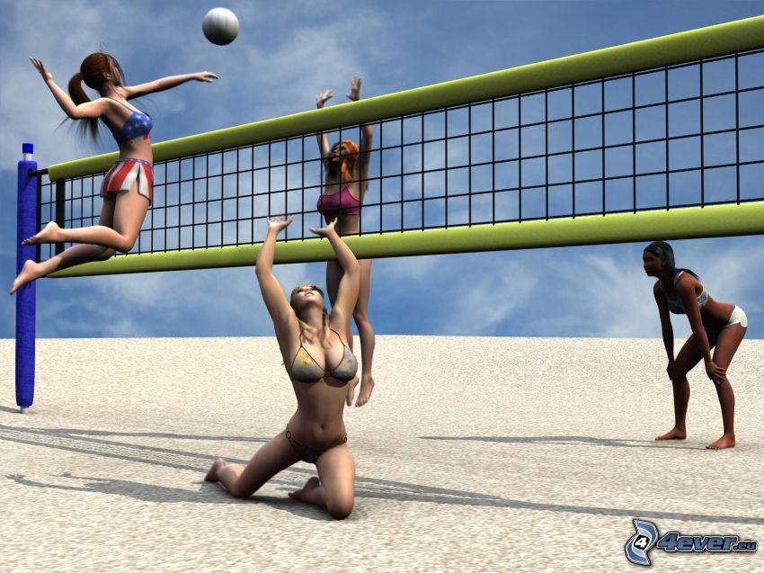 siatkówka, plażowa, The Sims 2