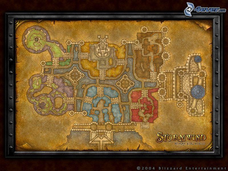 World of Warcraft, mapa