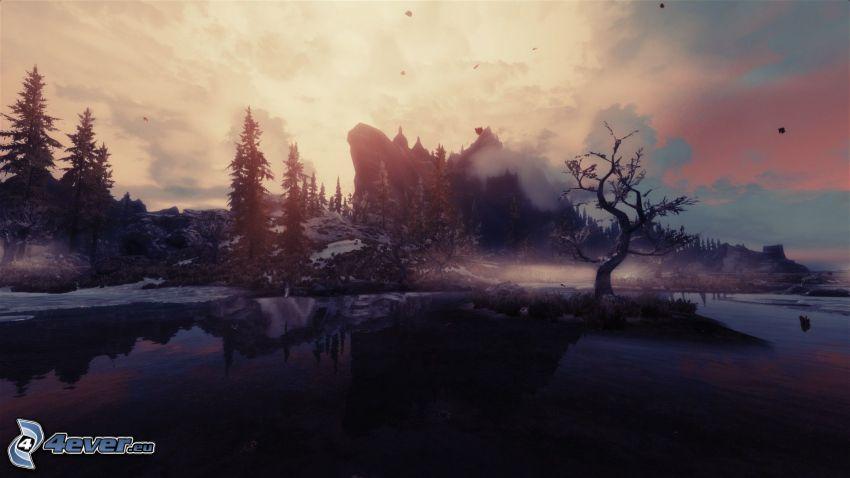 The Elder Scrolls Skyrim, krajobraz
