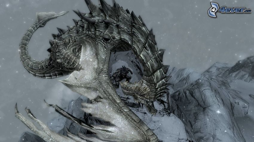 The Elder Scrolls Skyrim, smok