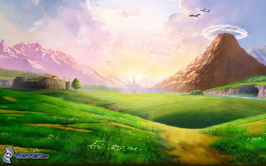 The Legend of Zelda, krajobraz