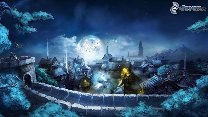 Trine 2, średniowiecze, noc