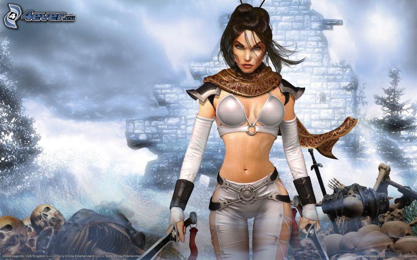 Untold Legends: Dark Kingdom, wojowniczka z fantazji