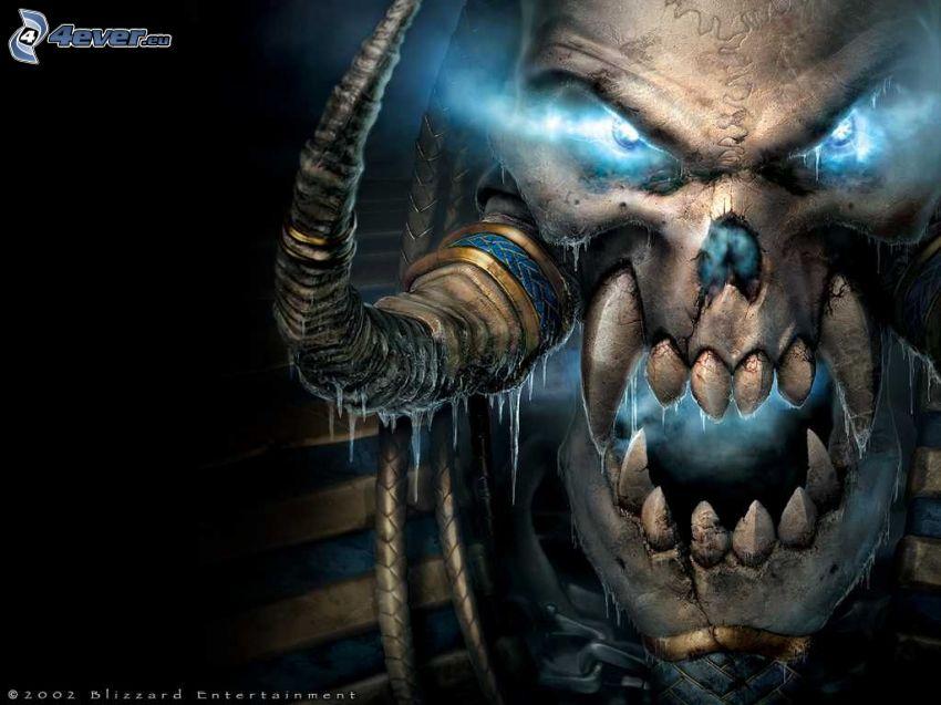 Warcraft 3, czaszka, rogi