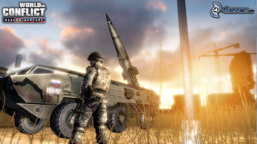 World in Conflict, czołg, żołnierz