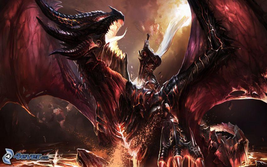 World of Warcraft, smok rysunkowy