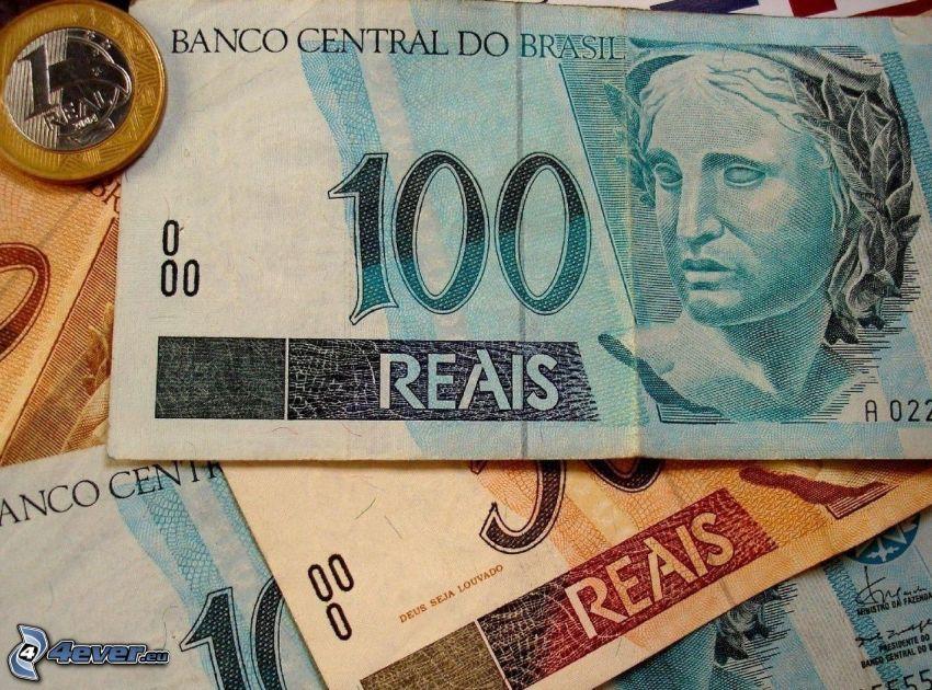 banknoty, moneta