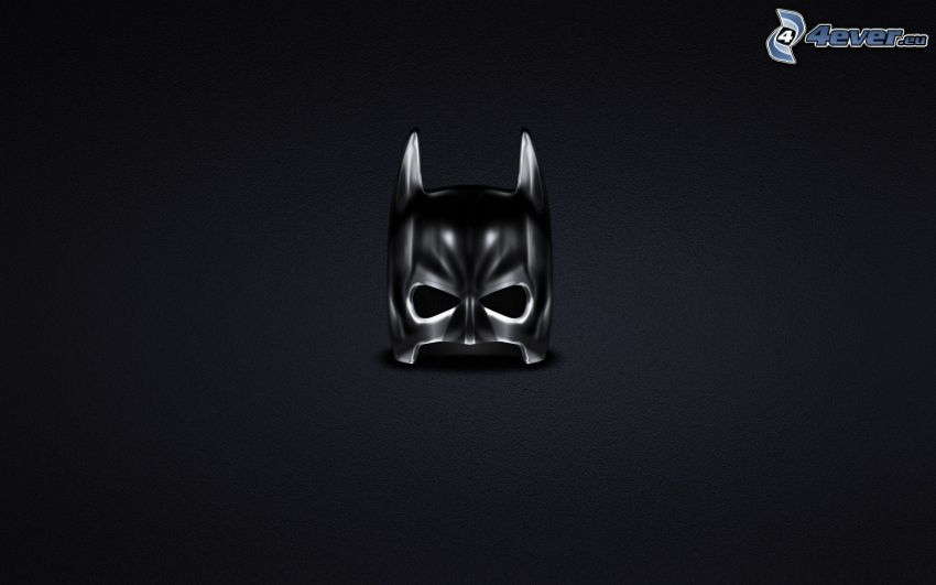 Batman, maska, czarne tło