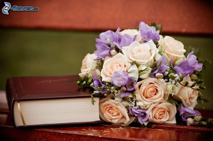 bukiet ślubny, książka