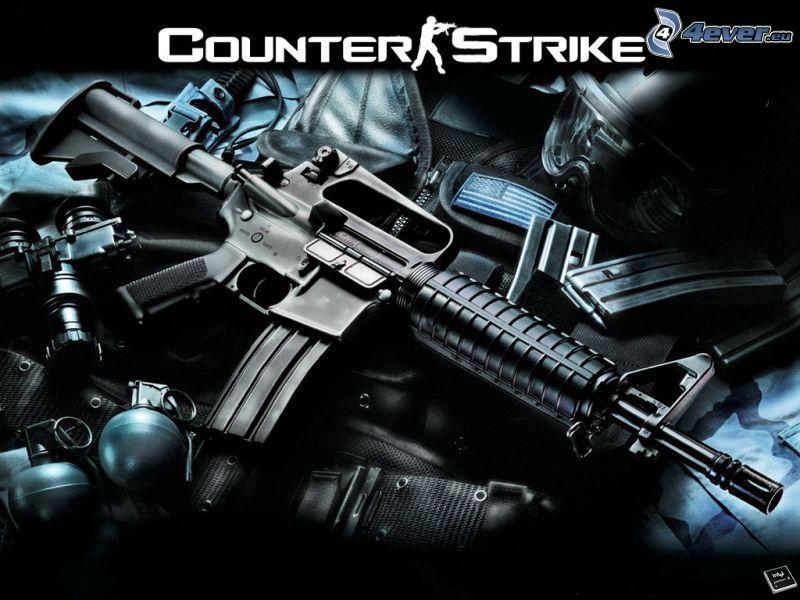Counter Strike, karabin maszynowy