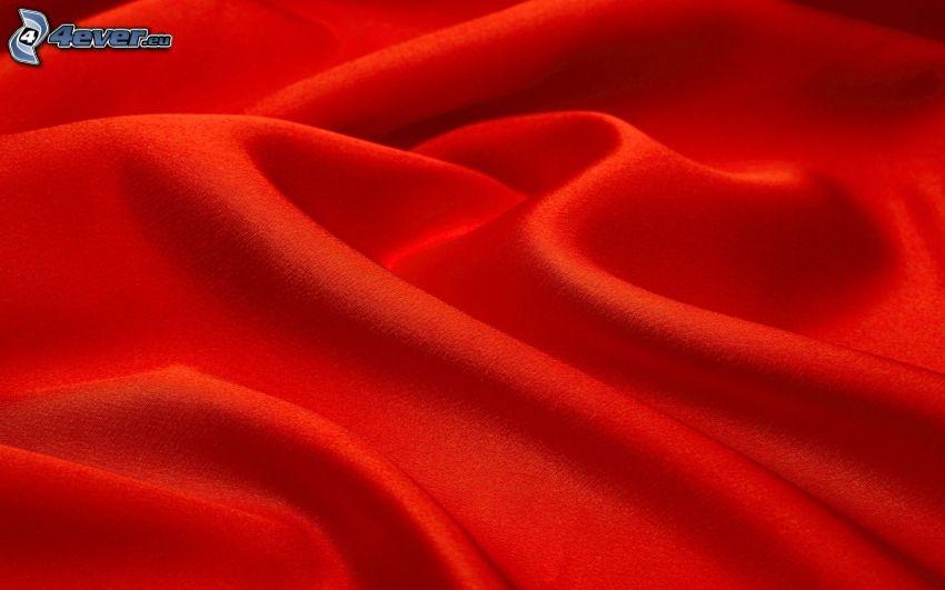 czerwony materiał