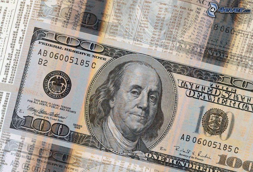 dolar, banknot
