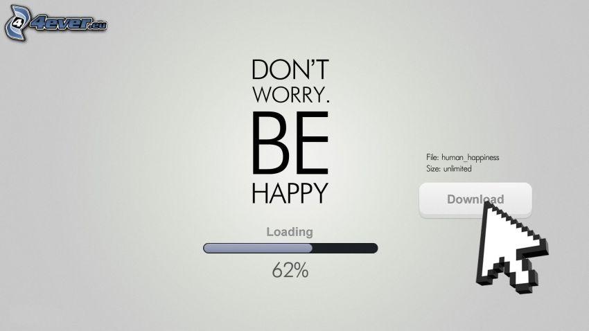 download, text, strzałka, worry, happy