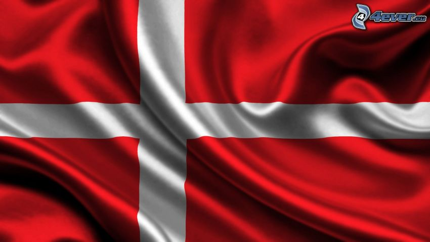 duńska flaga, jedwab