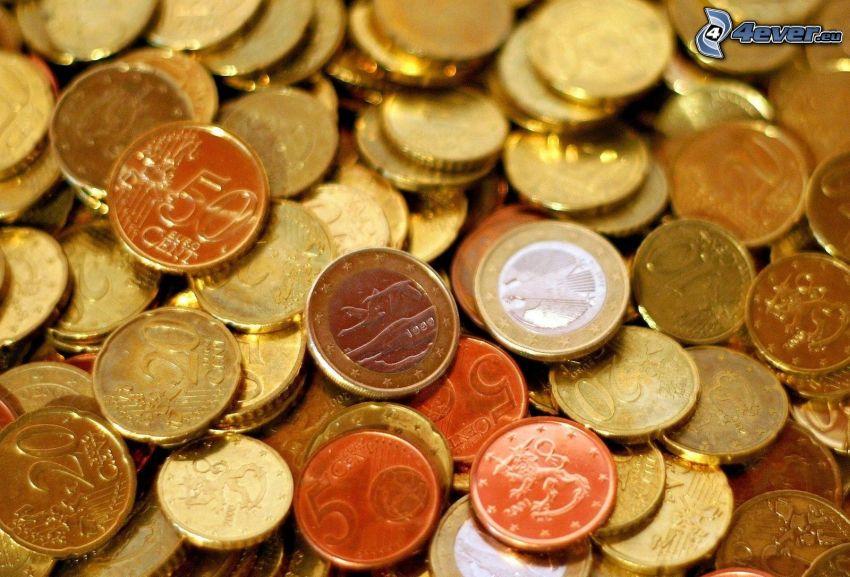 euro, monety