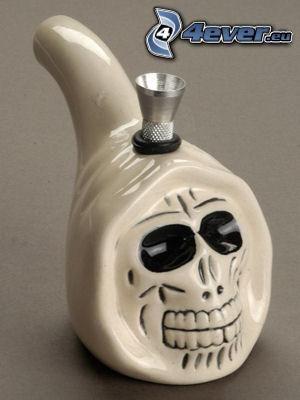 fajka, czaszka, palenie
