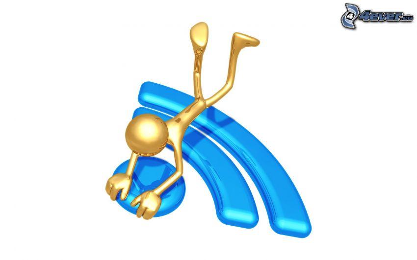 figurka, logo, RSS