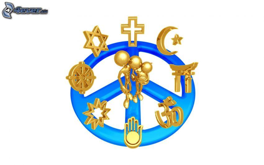 figurki, rodzina, religia, chrześcijaństwo, judaizm