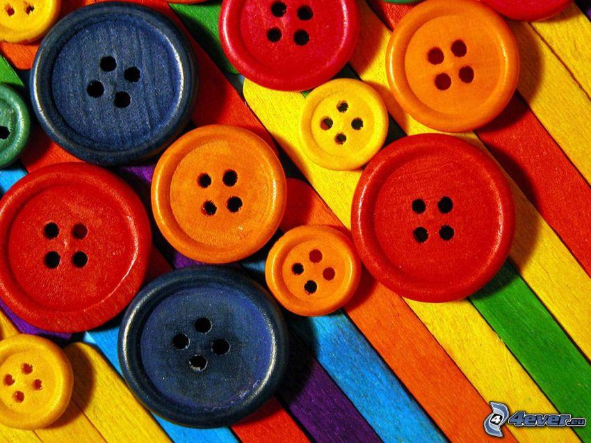 guziki, kolory