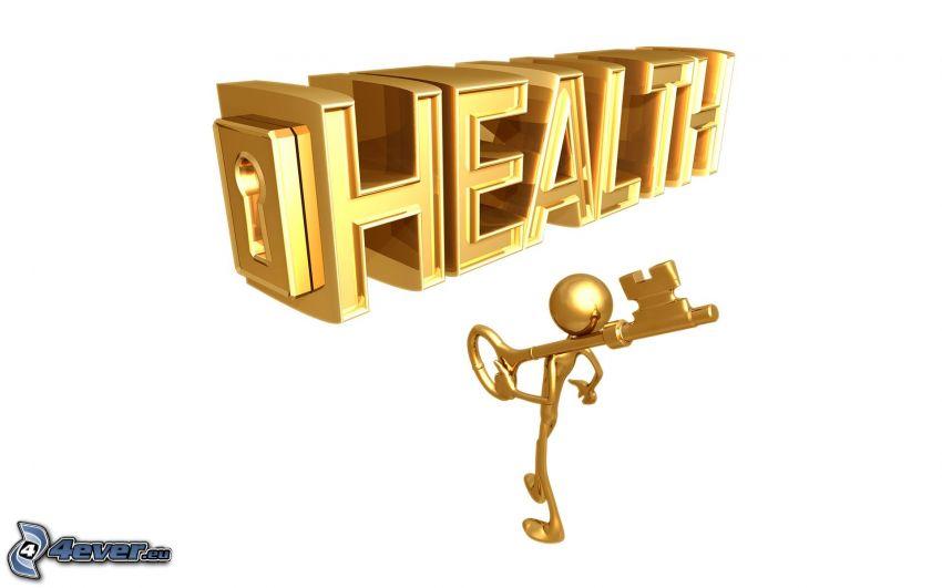 health, figurka, klucz