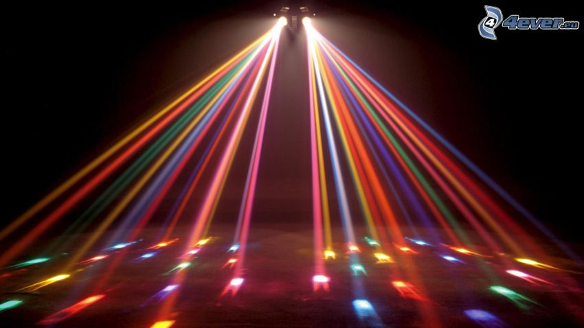 kolorowe światła, dyskoteka